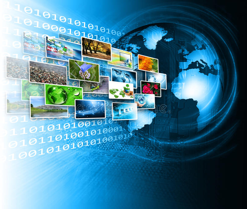 Tecnología de producción de la televisión y del Internet stock de ilustración