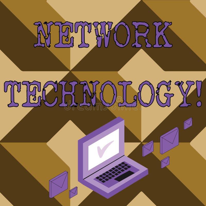 Tecnología de red conceptual de la demostración de la escritura de la mano Texto de la foto del negocio transmitir datos digital  ilustración del vector