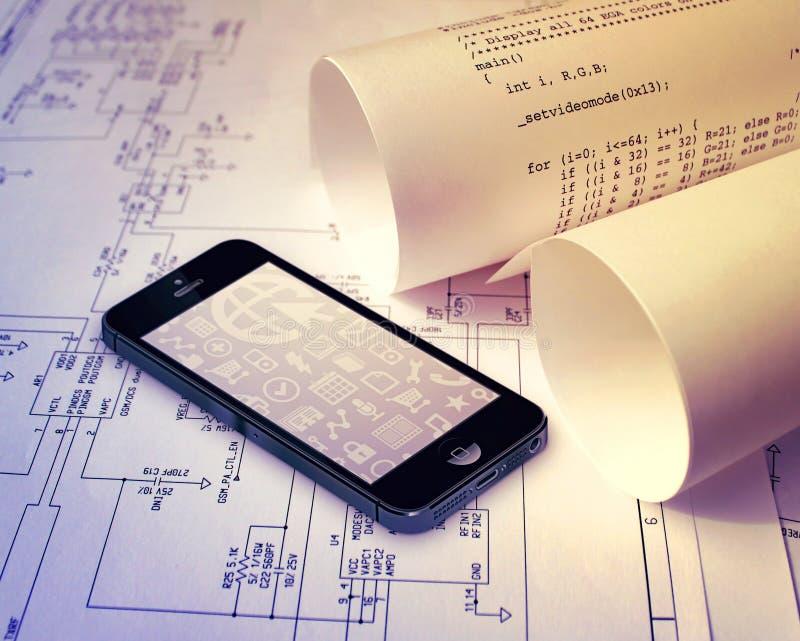 Tecnología de Smartphone imagenes de archivo