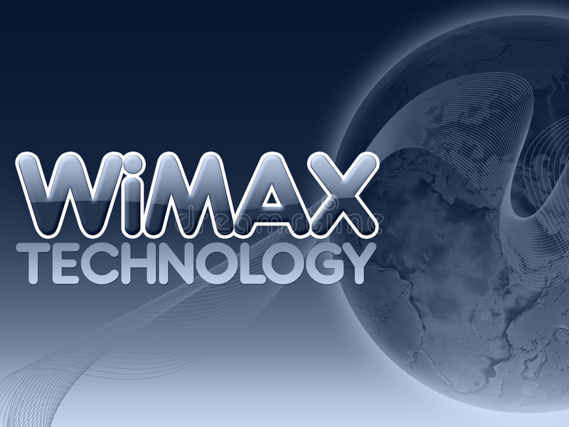 Tecnología de Wimax ilustración del vector