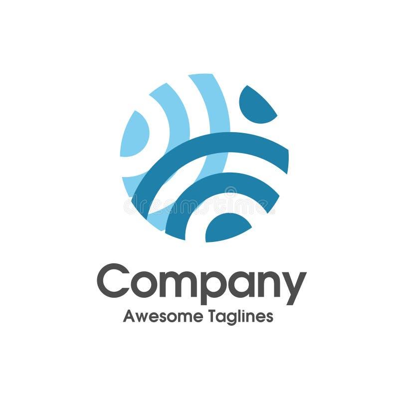 Tecnología del círculo y logotipo de la red stock de ilustración