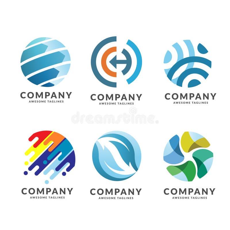 tecnología del círculo y sistema del logotipo de la red ilustración del vector
