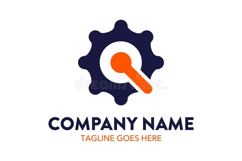 Tecnología del deporte y plantilla únicas del logotipo del establecimiento de una red stock de ilustración