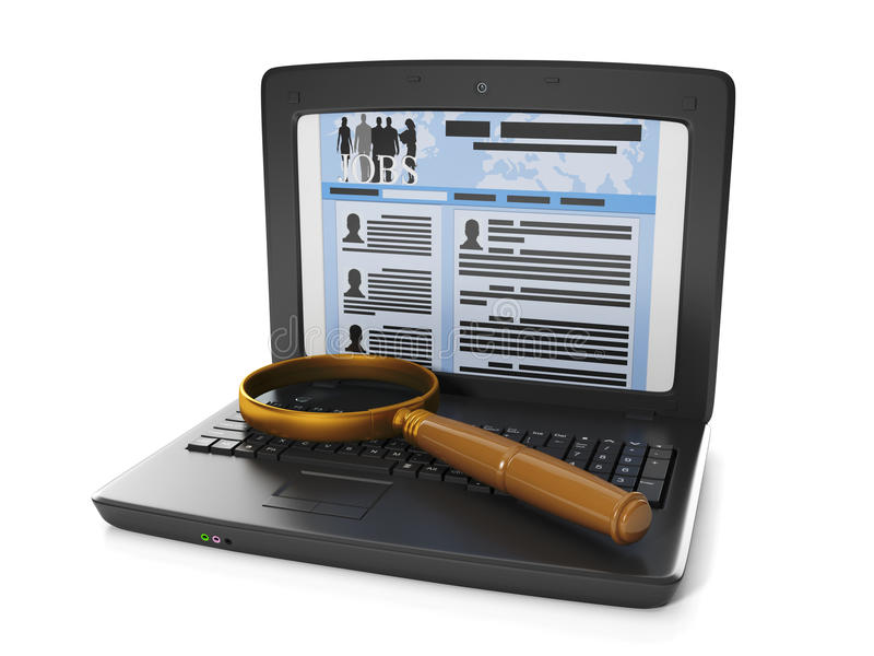 tecnología del Internet. búsqueda de trabajo libre illustration