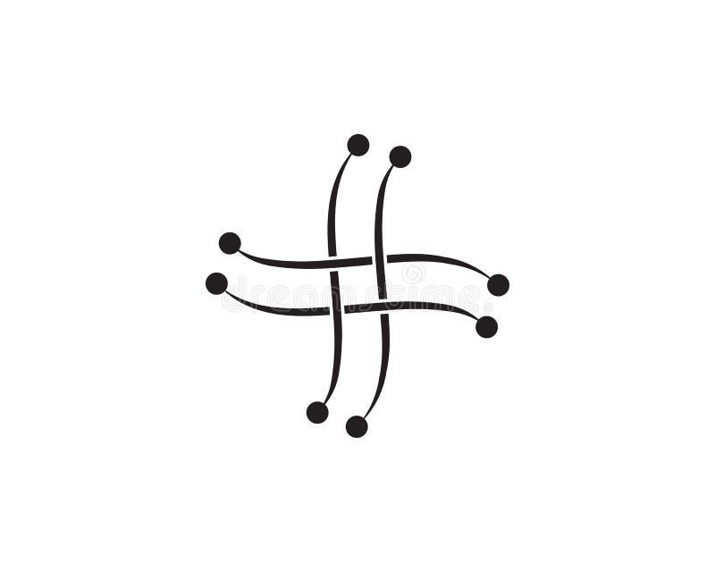 Tecnología del logotipo del símbolo del vector del diseño del ejemplo del circuito ilustración del vector