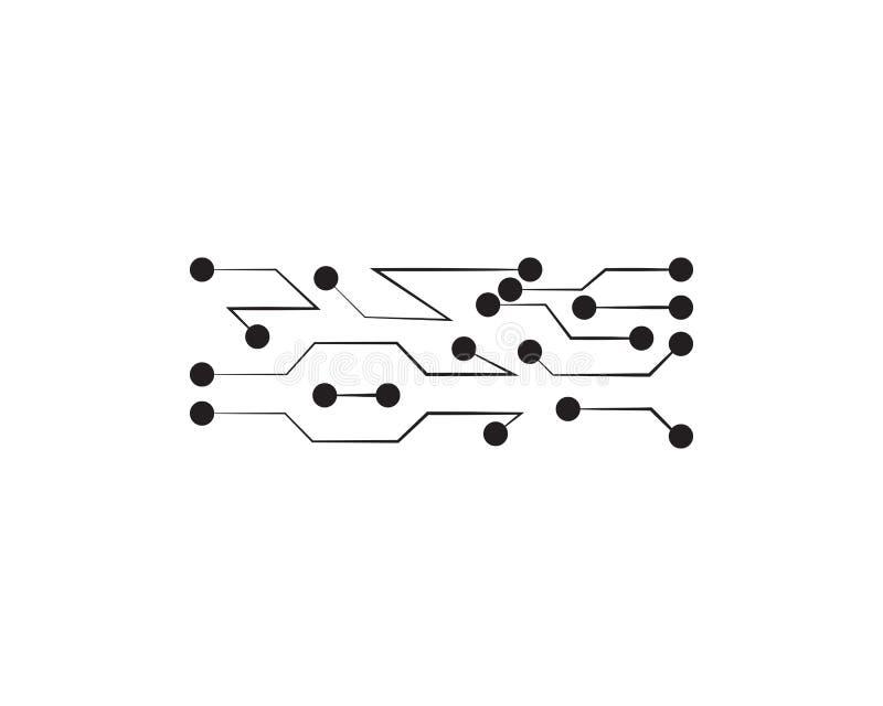 Tecnología del logotipo del símbolo del vector del diseño del ejemplo del circuito stock de ilustración