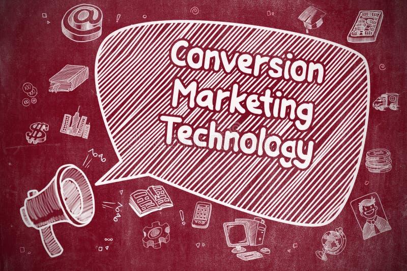 Tecnología del márketing de la conversión - concepto del negocio libre illustration