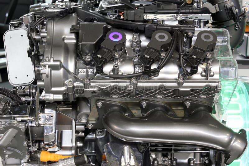 Motor del híbrido del coche foto de archivo libre de regalías