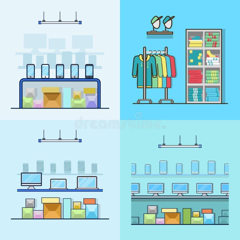 Tecnología del ordenador portátil del smartphone de la electrónica libre illustration