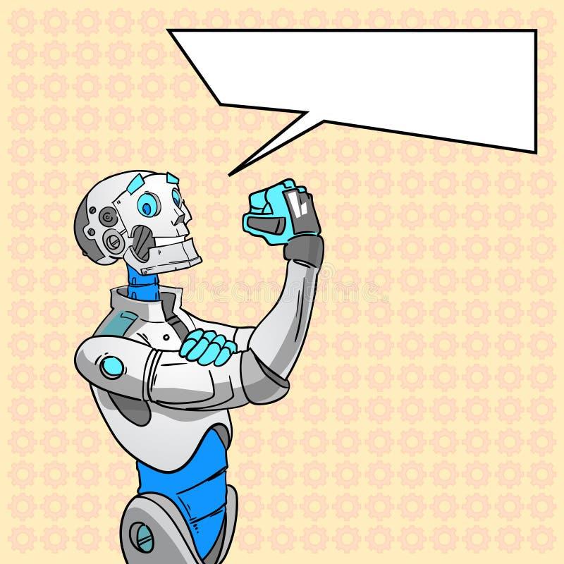 Tecnología del robot podemos hacerla arte pop de la burbuja de la charla libre illustration