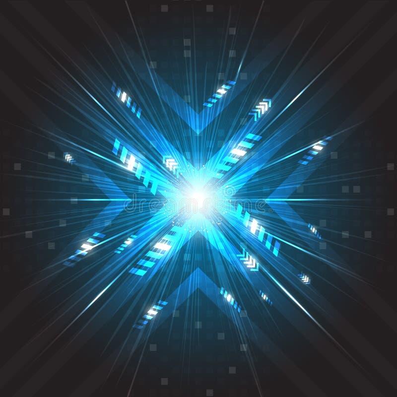 Tecnología digital de la velocidad del vector futuro abstracto ilustración del vector