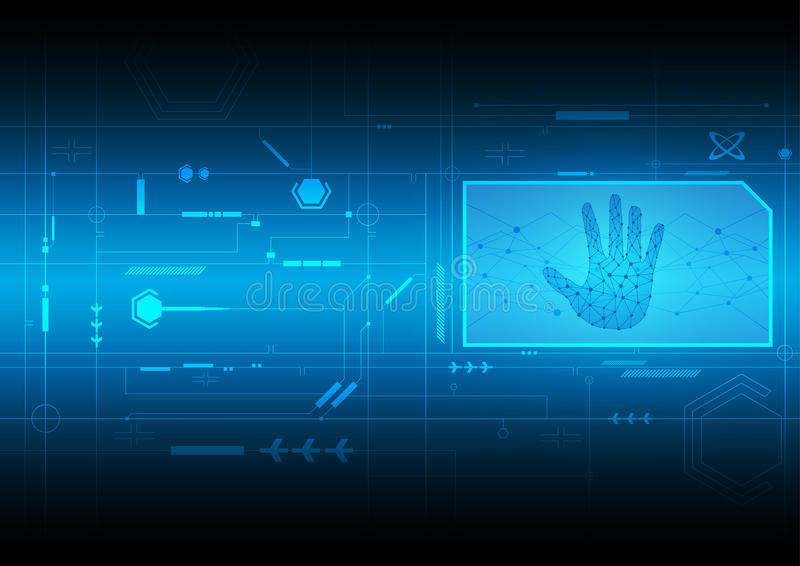 Tecnología digital del interfaz ilustración del vector