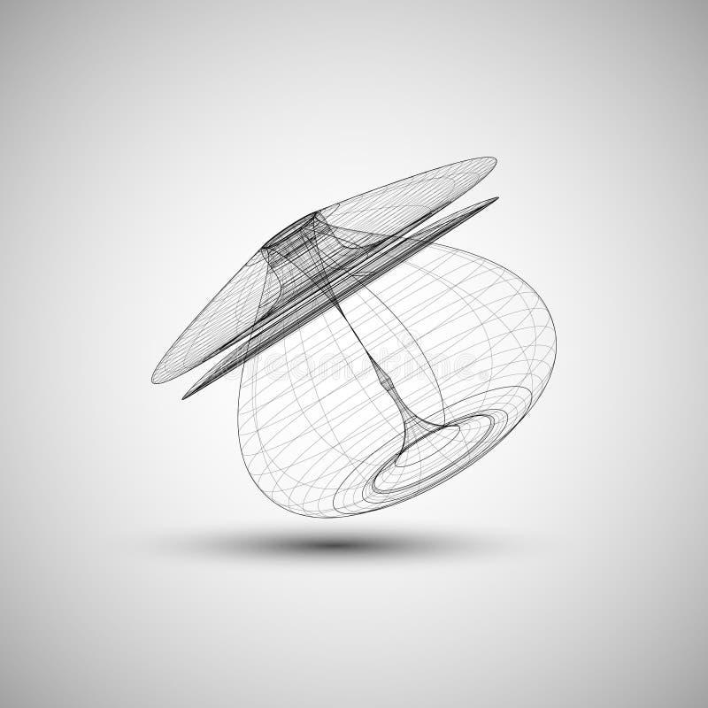 Tecnología elegante abstracta stock de ilustración