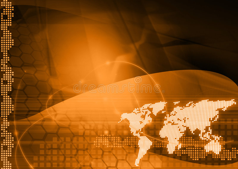 Tecnología-estilo de la correspondencia de mundo stock de ilustración