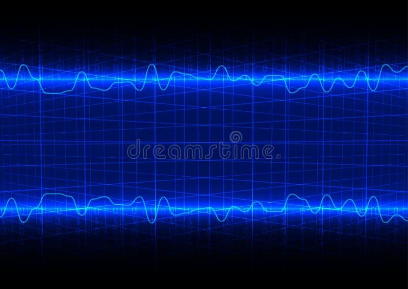 Tecnología futura abstracta con la parte posterior del concepto del código binario stock de ilustración
