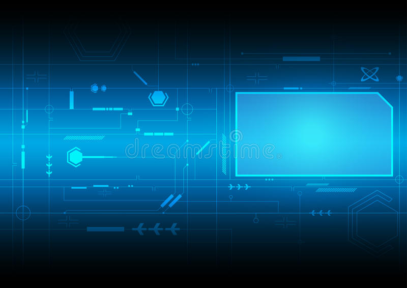 Tecnología futura del interfaz stock de ilustración