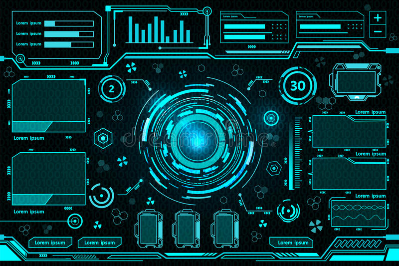 Tecnología futurista del interfaz ilustración del vector