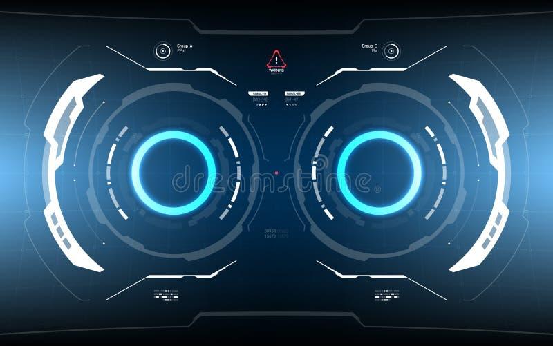Tecnología futurista HUD Screen de la ciencia ficción ilustración del vector