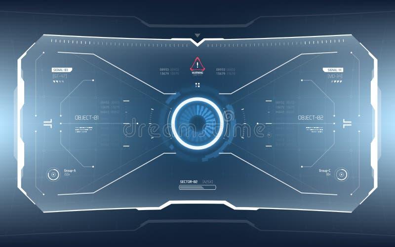 Tecnología futurista HUD Screen de la ciencia ficción stock de ilustración
