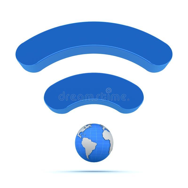 Tecnología global sin hilos ilustración del vector