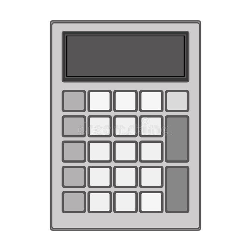 Tecnología gris de la silueta con el bolsillo solar de la calculadora libre illustration