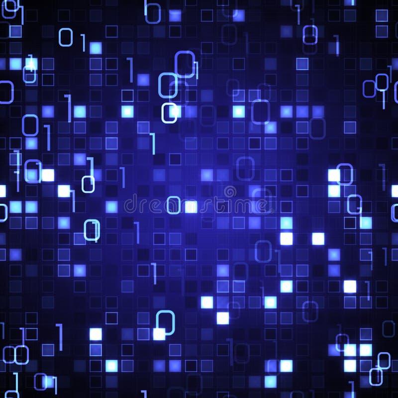 Tecnología inconsútil azul de la información de fondo stock de ilustración