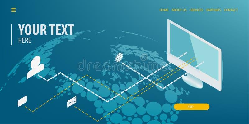 Tecnología isométrica de la conexión de datos libre illustration