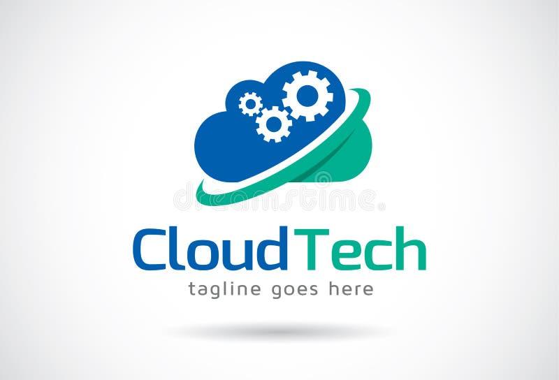 Tecnología Logo Template Design Vector, emblema, concepto de diseño, símbolo creativo, icono de la nube stock de ilustración