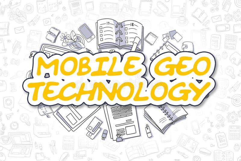 Tecnología móvil de Geo - concepto del negocio ilustración del vector