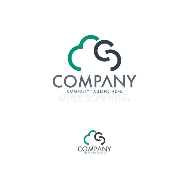 Tecnología moderna Logo Template de las nubes stock de ilustración
