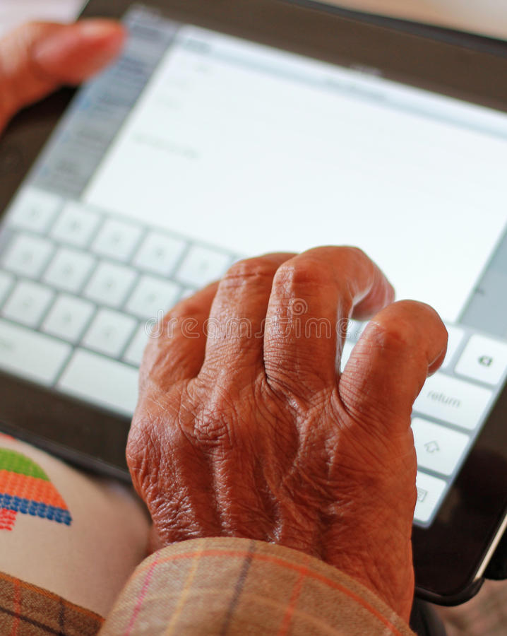 Tecnología para envejecida fotos de archivo