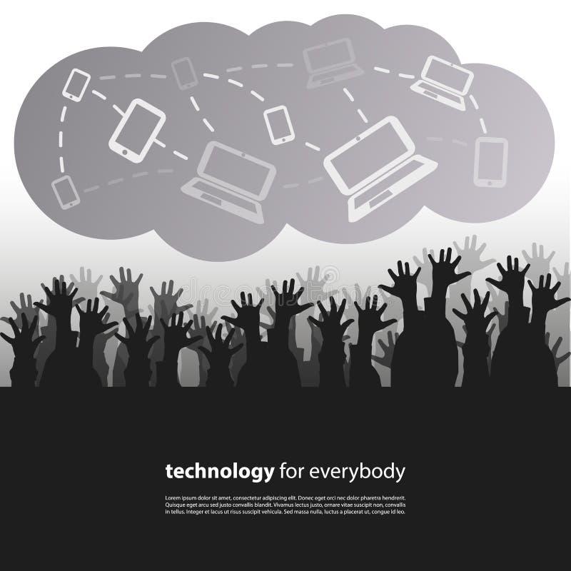 Tecnología para todos - concepto de diseño libre illustration