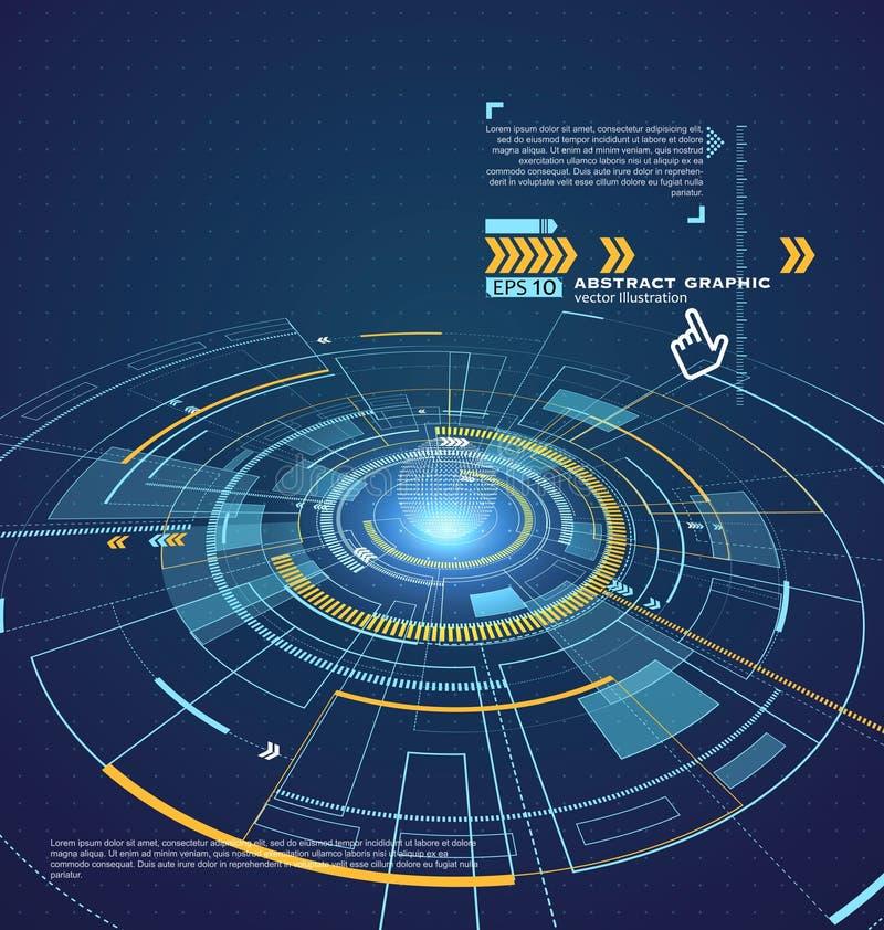 Tecnología tridimensional del interfaz, el futuro de la experiencia del usuario libre illustration