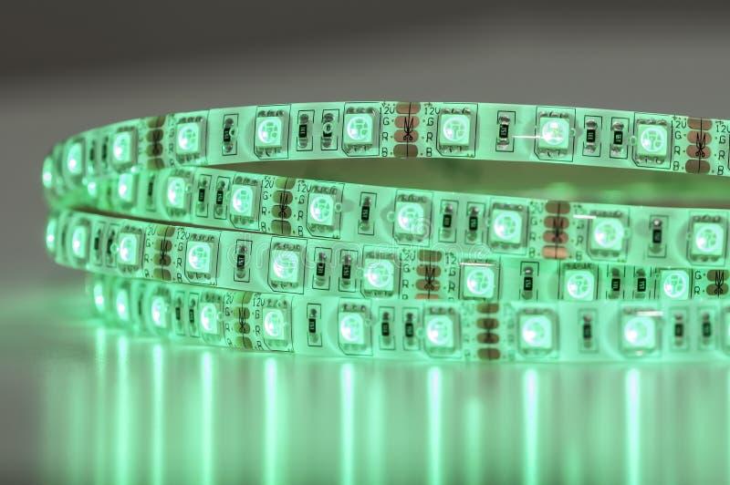 Tecnología verde de las luces de tira del LED foto de archivo