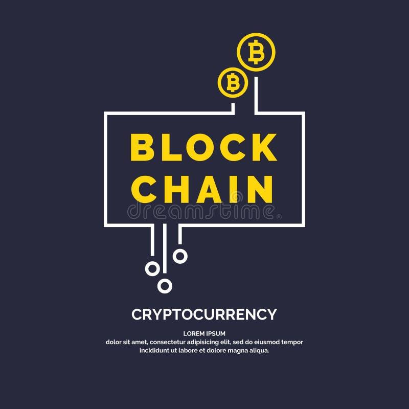 Tecnología y cryptocurrency de Blockchain libre illustration