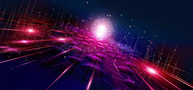 Tecnología y Internet de comunicación por todo el mundo para el negocio La red global del mundo conectó y telecomunicación foto de archivo libre de regalías