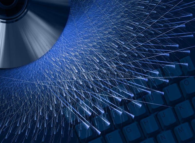 Tecnología y velocidad stock de ilustración