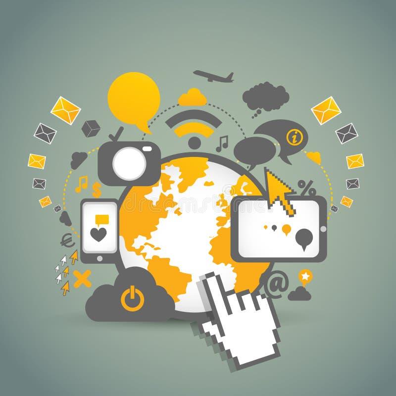 Tecnologías de la comunidad de la red stock de ilustración