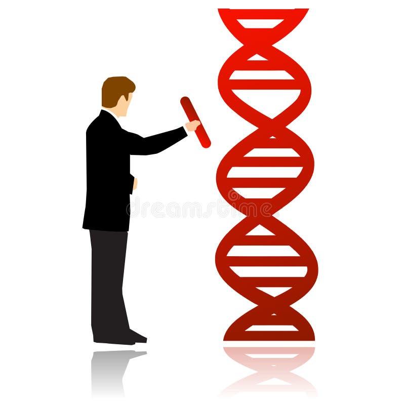 Tecnologías de la manipulación de la DNA bio ilustración del vector