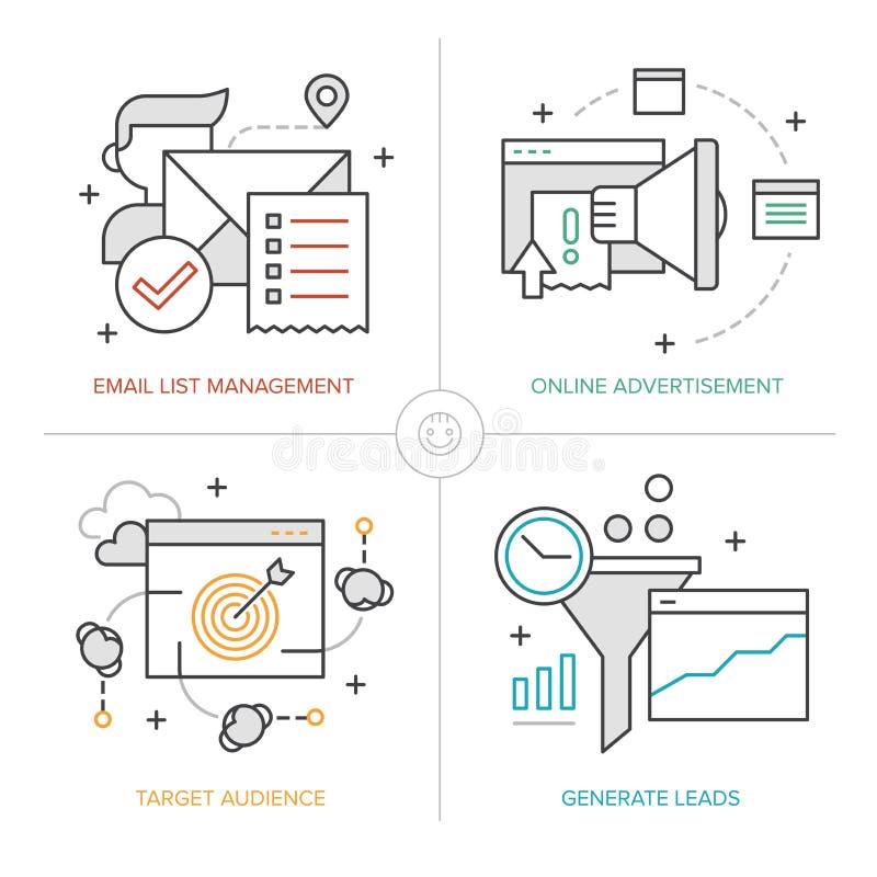 Tecnologías en línea del márketing libre illustration
