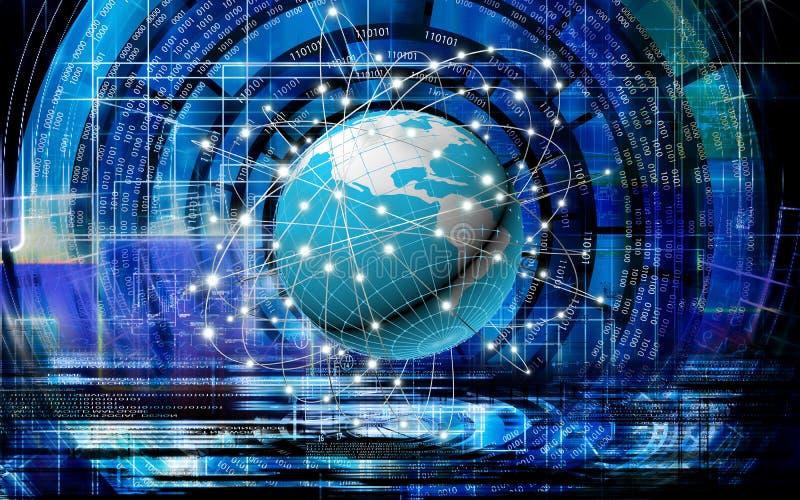 tecnologías innovadoras de Internet para el negocio ilustración del vector