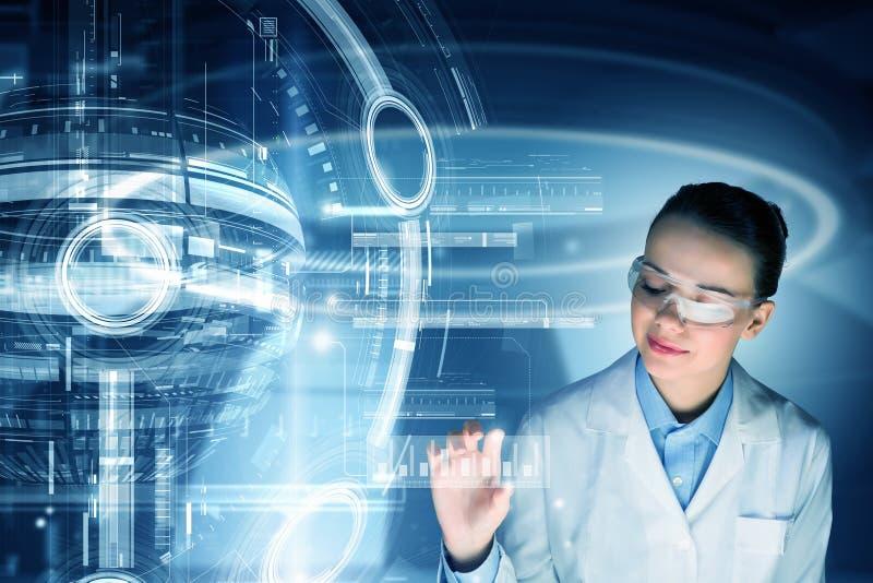 Tecnologías innovadoras en ciencia y medicina fotografía de archivo