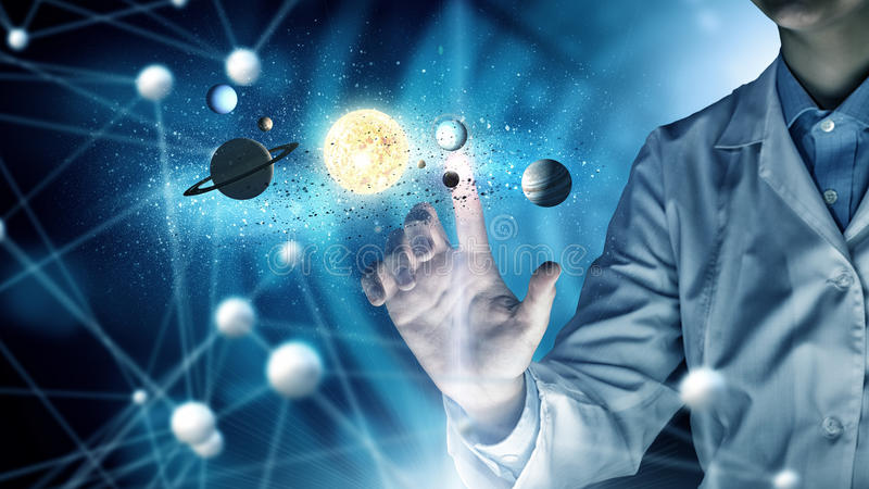 Tecnologías innovadoras en ciencia y medicina imágenes de archivo libres de regalías