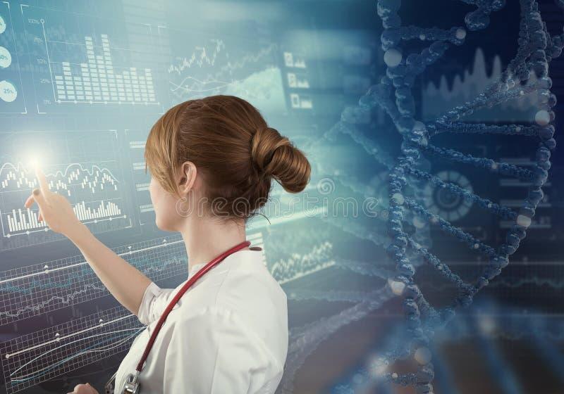 Tecnologías innovadoras en ciencia y medicina imagen de archivo libre de regalías