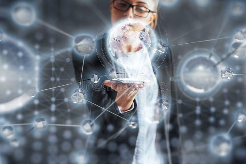 Tecnologías innovadoras en ciencia y medicina Tecnología a conectar El concepto de seguridad imagenes de archivo