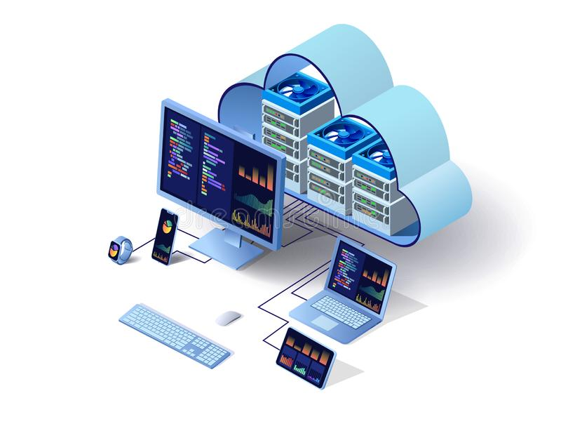 Tecnolog?as modernas de la nube libre illustration