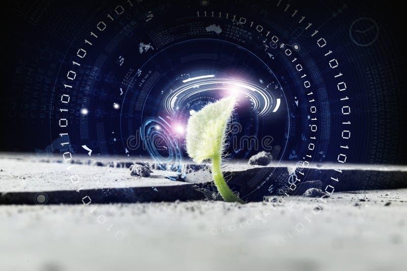 Tecnologías modernas para la nueva vida imagen de archivo