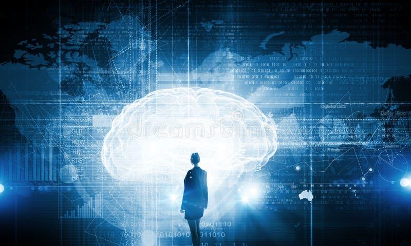 Tecnologías virtuales Imagen del concepto fotos de archivo