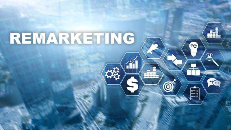 Tecnolog?a de nuevo lanzamiento de nuevo del negocio Concepto de Internet y de la red T?cnicas mixtas Concepto financiero en fond ilustración del vector