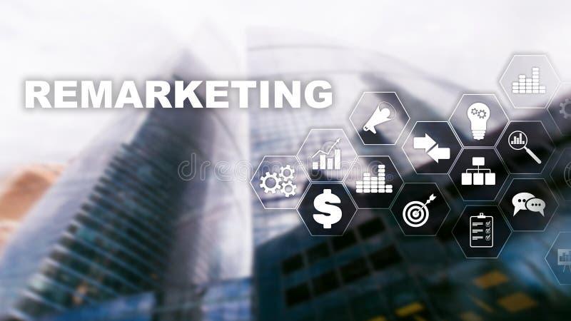Tecnolog?a de nuevo lanzamiento de nuevo del negocio Concepto de Internet y de la red T?cnicas mixtas Concepto financiero en fond stock de ilustración